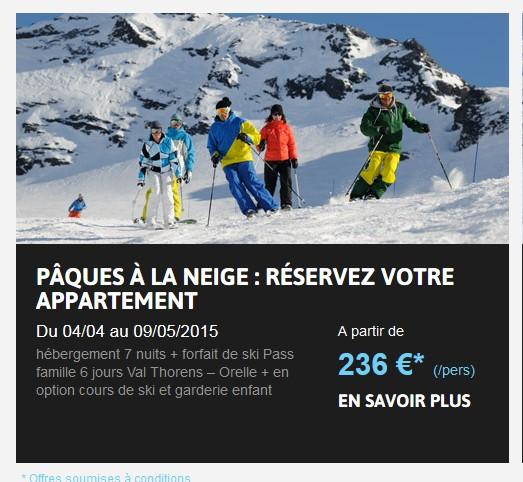 l'offre ski a paques d ela station val thorens