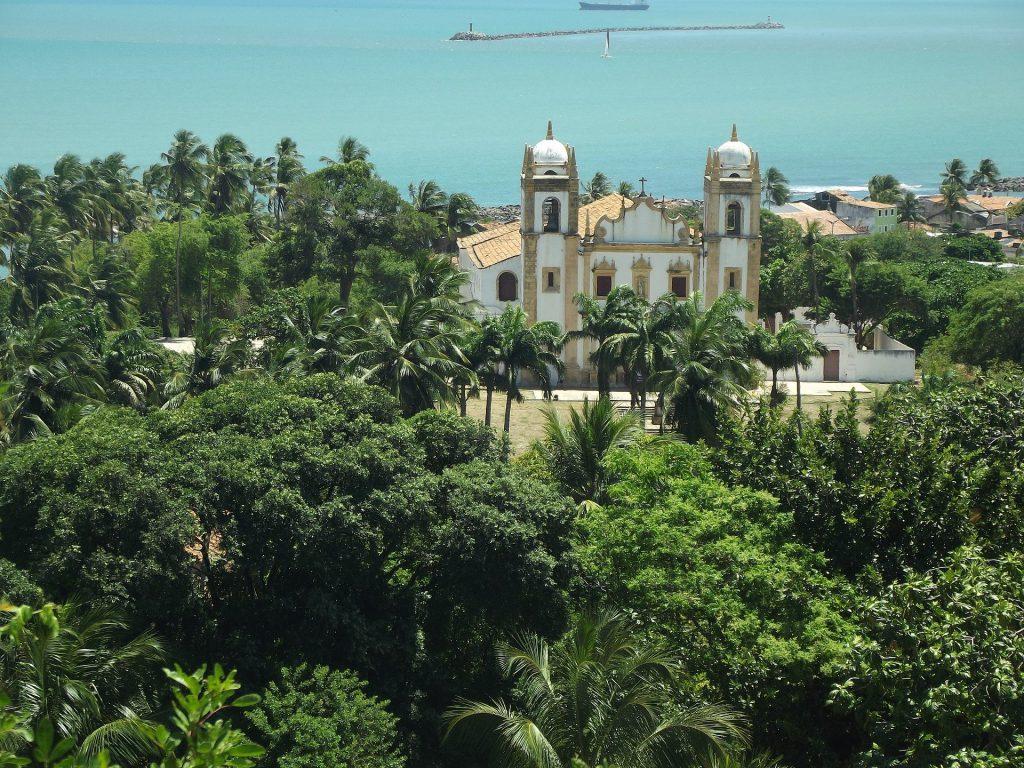 photo aérienne de la ville d'Olinda au Brésil