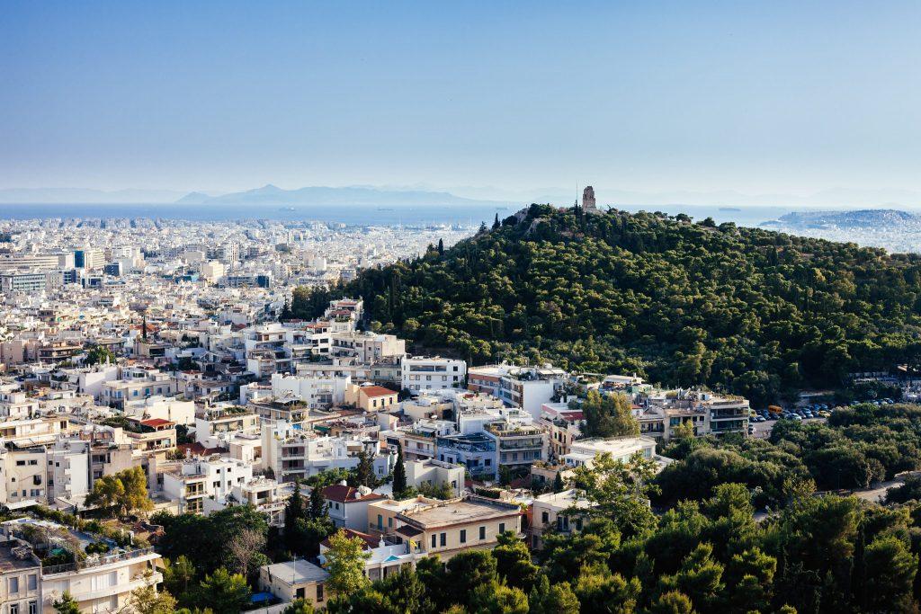 ville d'athène et la coline de l'acropole
