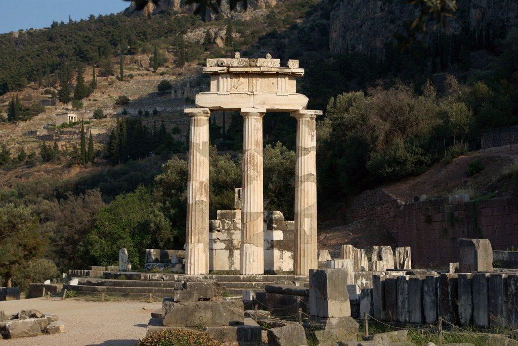 site archéologique de delphes en grèce