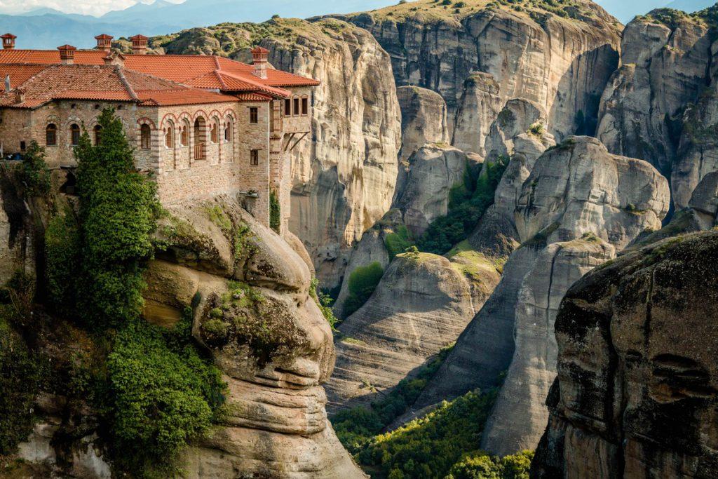 Les météores à Thessalie en Grèce