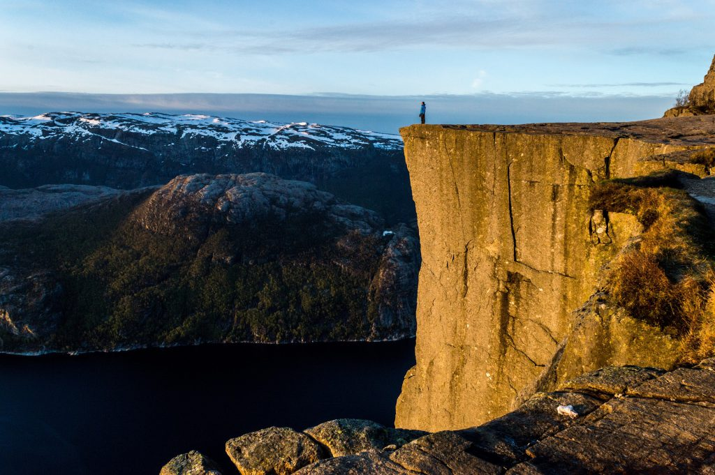 falaise de Preikestolen en Norvège