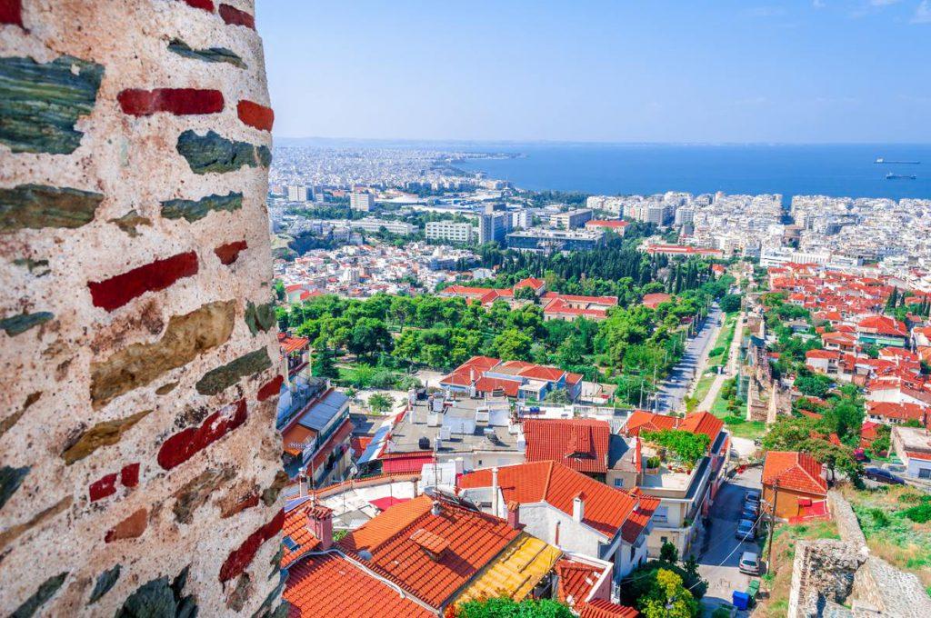 Vue de la ville de thessalonique