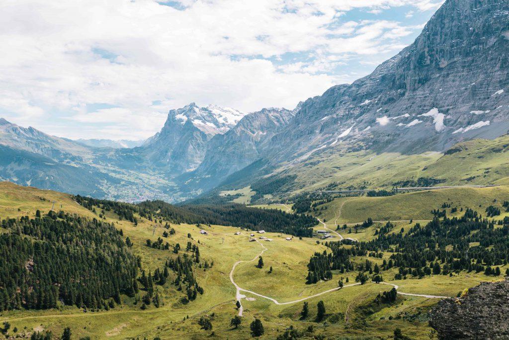 Un paysage dans les Alpes