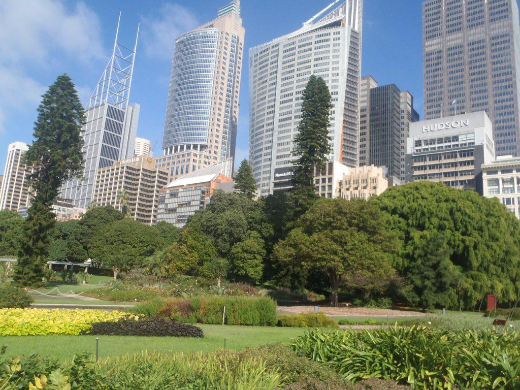 Jardin botanique au coeur de la ville de Sydney