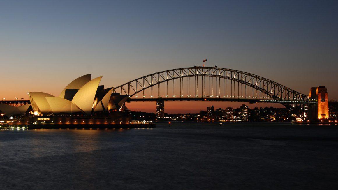 port de Sydney de nuit